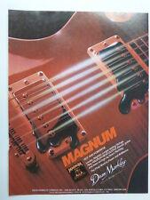 retro magazine advert 1983 DEAN MARKLEY magnum strings