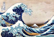 Katsushika Hokusai GRANDE ONDA dal Kanagawa Poster Giapponese Stampa