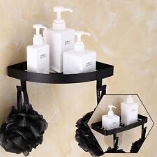 Wall Mount Bath Shower Caddy Storage Shelf Hook Bathroom Corner Holder Organizer