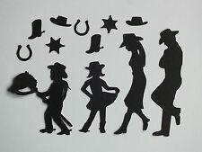 12 Cowboy Cowgirl Line Dance famiglia PLUS CONFETTI ferro di cavallo Cappello STAR Boot