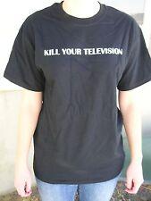 """Kill Your Television"" Black T-shirt white lettering  Quality Gildan brand"