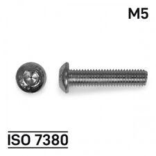 M5x8mm R/ändelschrauben H/öhe Form Stahl,12 St/ück