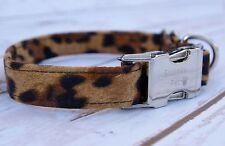 Designer Dog Puppy Collar - Animal Leopard Print Design - All Sizes