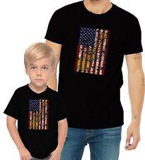 Guitar US Flag Adults Mans & Womens & Kids & Boy & Girl T-Shirt