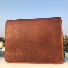 Men;s Natural Leather Cowhide Brown Crossbody Shoulder Satchel Messenger Bag New