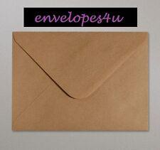 """5"""" x 7"""" Brown Ribbed Kraft Envelopes (133 x 184mm) 100gsm FREE P&P"""