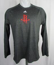 Houston Rockets NBA Men's adidas Climalite Long Sleeve Shooting Shirt NBA S M L