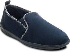 Padders Corte Ancho Zapatillas para el hogar (Lewis) Azul Marino en Talla