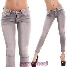 Jeans donna pantaloni elasticizzati slim skinny sopra caviglia nuovi C10663-3