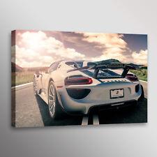 Porsche 918 Spyder Supercar Automotive Car Photo Wall Art Canvas Print
