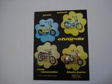 advertising Pubblicità 1971 CHIORDA PIRATA/MISTRAL/CROSS COMMANDOS/BIMBO JUNIOR