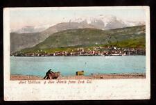 1904 boat fort williams & ben nevis from loch eil uk postcard