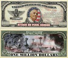 Attack on Pearl Harbor - 1 Million Dollars - NOVELTY MONEY