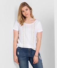 T-Shirt SHEEGO Casual, weiß. NEU!!! KP 24,99 € SALE%%%