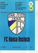 OL 84/85 FC Carl Zeiss Jena - FC Hansa Rostock