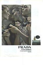 PUBLICITE ADVERTISING  2009  PRDA le nouveau parfum l'EAU AMBREE