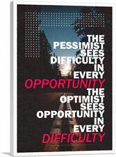 ARTCANVAS Pessimist Sees Difficulty Optimist Opportunity Canvas Art Print