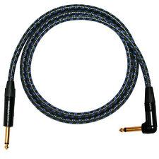 Beliebiger Länge Gitarrenkabel Neutrik Stecker zu Klinkenstecker,schwarz & blau