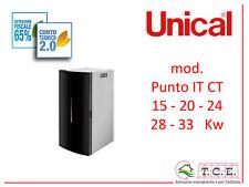Idrostufa a pellet UNICAL mod. PUNTO IT CT -  potenza 15 / 20 / 24 / 28 / 33 Kw