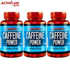 Caffeine Power 60-300 Capsules Pre-Workout Energy Endurance Safe Stimulant Pills