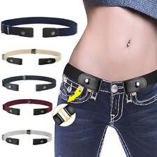 Women Elastic Buckle-Free Belt No Buckle Stretch Waist Belts Pants Dress Unisex