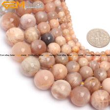 "Natural Gemstone Sunstone Beads Strand 15"" Wholesale Jewelry Making Loose Beads"