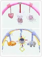 Cute Buggy Arch Music Car Clip Cloth Blue Elephant Pink Rabbit Pram Buggy Toys