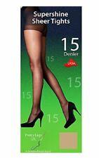 2 Pairs Pretty Legs 15 Denier Supershine Nylon Sheer Tights 15 Denier