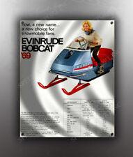 VINTAGE EVINRUDE 1969 BOBCAT SNOWMOBILE BANNER