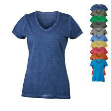 James & Nicholson Damen T- Shirt LADIES GIPSY T-Shirt V-Ausschnitt Neu JN975