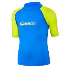 NEW Speedo Logo Short Sleeve Suntop/Rashie 77Y74/6967 - Boys Swimwear