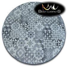Tapis PETIT PRIX rond poterie gris Lisbonne haute qualité NICE en Touche 5