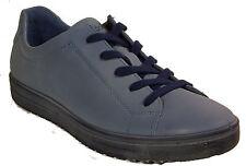 ECCO Schuhe FARA Halbschuhe Schnürschuhe Sneaker blau Leder Wechselfußbett NEU