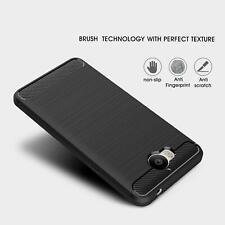 pour Huawei P20 Y6 P8 Lite 2017 2018 7A NEUF fibre de carbone gel