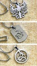 Mens Stainless Steel Dragon Phoenix Necklace Pendant US