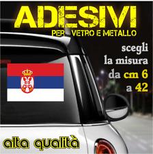 Adesivi Sticker serbia per Vetro e Metallo (da 6 a 42 cm)
