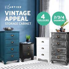 Artiss Bedside Tables Chest of Drawers Table Storage Cabinet Dresser Vintage