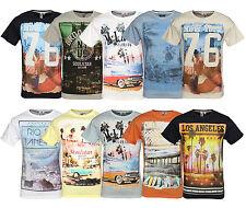 Soul star hommes impression photo t-shirt en coton imprimé graphique top city