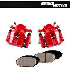Rear Red Brake Calipers +Ceramic Pads For 2006 2007 2008 - 2010 Toyota Rav 4
