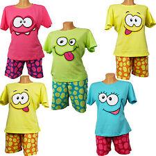 Damen Schlafanzug kurz Shorty Pyjama  Original NEU Baumwolle