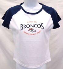 Denver Broncos Football Women's NFL Short Sleeve T-Shirt White Junior Fit