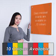Wonderwall Easy Install FramelessGlass Memo Whiteboard with Magnets - 45x60cm