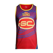 AFL Gold Coast Suns Youth Kids 2016 - 2017 Training Singlet, sizes 6 10 only
