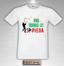 camiseta Pesca Pescador Frases Divertido Amo cuando ella si pliegue Idea