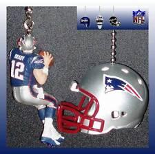 NFL NEW ENGLAND PATRIOTS TOM BRADY (NAVY) & CHOICE OF HELMET CEILING FAN PULLS