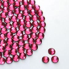 Hermosa Rosa Brillante Hot Fix/hierro en/Pegamento En Estrás Diamante AAA