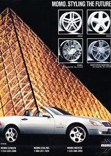 1997 Momo and Mercedes SLK - Classic Vintage Advertisement Ad H41