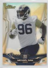 2014 Topps Finest Gold Refractor #133 Michael Sam St. Louis Rams Football Card