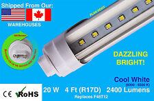 T8 R17D 4FT 20W F48T12 LED VENDING FREEZER / COOLER REPLACEMENT BULB CLEAR LENS
