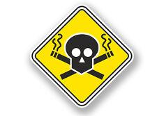 2 X dejar de fumar Señal de Advertencia Pegatina de vinilo #7064